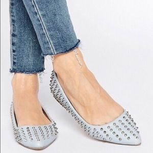 ASOS | Baby Blue Spiked Flats